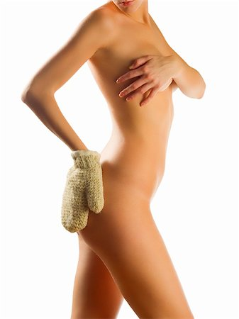 naked girl scrubbing her body Stock Photo - Budget Royalty-Free & Subscription, Code: 400-03983461