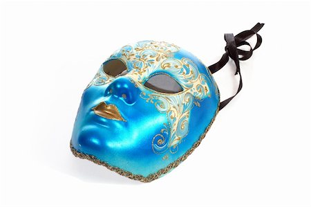 venetian carnival mask, close-up, isolated on white Stock Photo - Budget Royalty-Free & Subscription, Code: 400-03994581