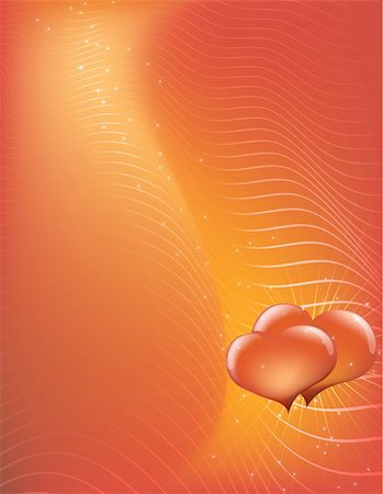 Vector illustration - abstract Valentine's Day background made of curved lines Stock Photo - Budget Royalty-Free & Subscription, Code: 400-03996628
