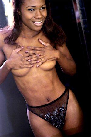 Topless woman Stock Photo - Premium Royalty-Free, Code: 604-00229121