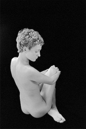 Nude woman sitting Stock Photo - Premium Royalty-Free, Code: 604-00229985