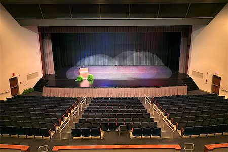Rows of seats at an auditorium Stock Photo - Premium Royalty-Free, Code: 604-00759484