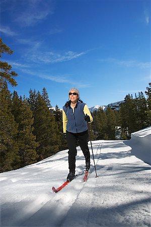 Woman cross-country skiing Stock Photo - Premium Royalty-Free, Code: 604-00753734