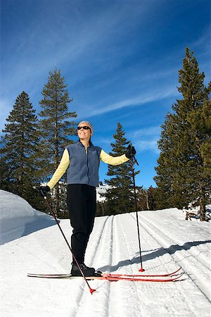 Woman cross-country skiing Stock Photo - Premium Royalty-Free, Code: 604-00753735