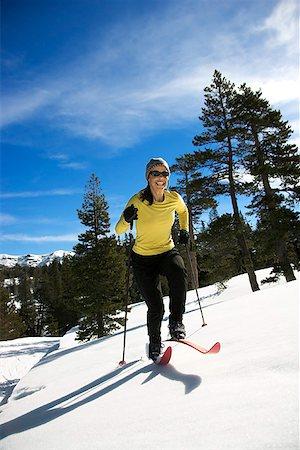 Woman skiing Stock Photo - Premium Royalty-Free, Code: 604-00753754