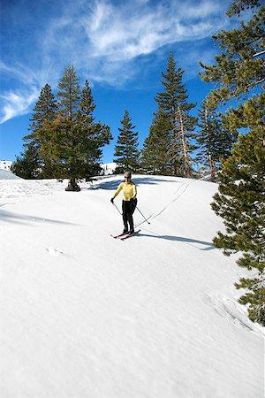 Woman cross-country skiing Stock Photo - Premium Royalty-Free, Code: 604-00753752