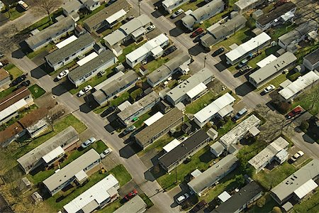 Aerial view of mobile homes in Grove Beach, Connecticut Stock Photo - Premium Royalty-Free, Code: 604-00753944