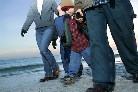 pre-teen boy models - Family on beach Stock Photo - Premium Royalty-Free, Code: 604-00760200