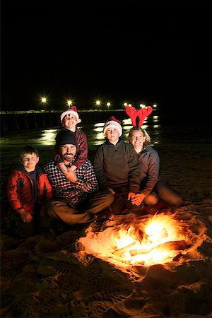 pre-teen boy models - Family and campfire on beach Stock Photo - Premium Royalty-Free, Code: 604-00760236