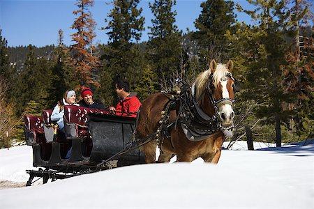 Horse drawn sleigh Stock Photo - Premium Royalty-Free, Code: 604-00762168