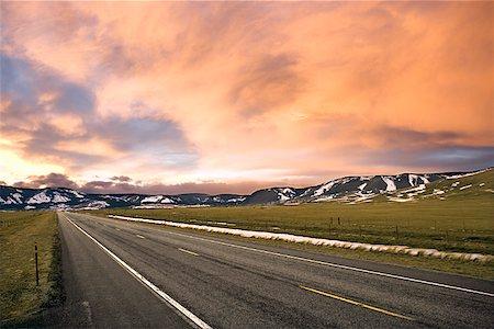 road landscape - Rural road Stock Photo - Premium Royalty-Free, Code: 604-00762314