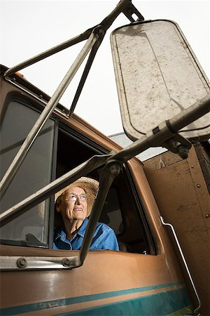 female truck driver - Woman in truck/ Stock Photo - Premium Royalty-Free, Code: 604-00939025