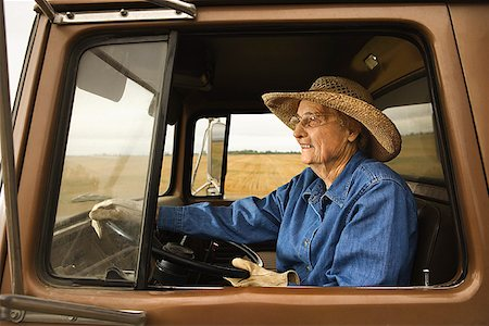female truck driver - Woman in truck/ Stock Photo - Premium Royalty-Free, Code: 604-00939028