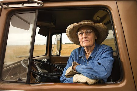 female truck driver - Woman in truck/ Stock Photo - Premium Royalty-Free, Code: 604-00939029