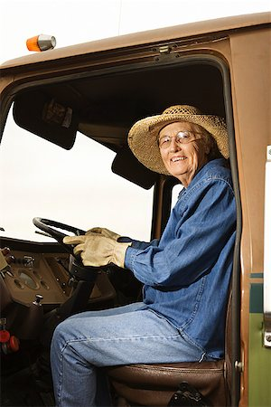 female truck driver - Woman in truck/ Stock Photo - Premium Royalty-Free, Code: 604-00939023