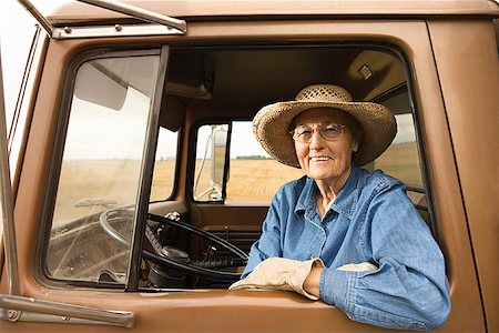 female truck driver - Woman in truck/ Stock Photo - Premium Royalty-Free, Code: 604-00939030