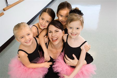 preteen models asian - Portrait of ballet instructor with students Stock Photo - Premium Royalty-Free, Code: 604-01119444