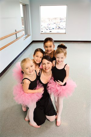 preteen models asian - Portrait of ballet instructor with students Stock Photo - Premium Royalty-Free, Code: 604-01119445