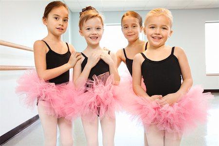 preteen models asian - Portrait of girls in ballet class Stock Photo - Premium Royalty-Free, Code: 604-01119458