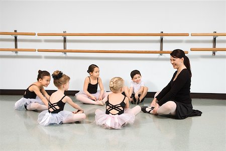 Children in ballet class watching instructor Stock Photo - Premium Royalty-Free, Code: 604-01119492