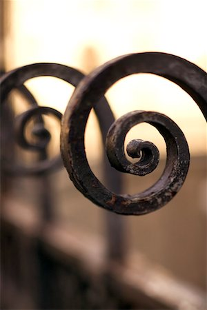scroll (design) - Wrought iron Stock Photo - Premium Royalty-Free, Code: 604-01231664