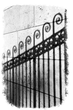 scroll (design) - Shadow of wrought iron fence Stock Photo - Premium Royalty-Free, Code: 604-01232368
