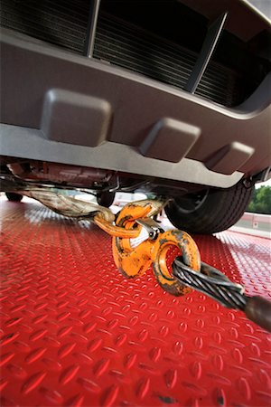 Close up of car on tow truck Stock Photo - Premium Royalty-Free, Code: 604-01233076