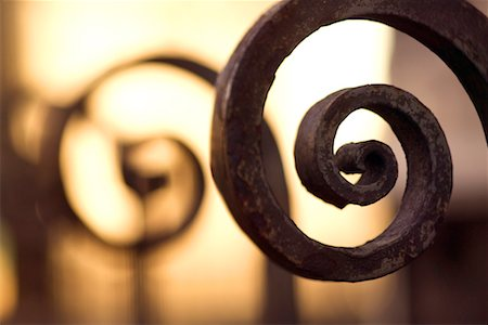 scroll (design) - Wrought iron Stock Photo - Premium Royalty-Free, Code: 604-01233220