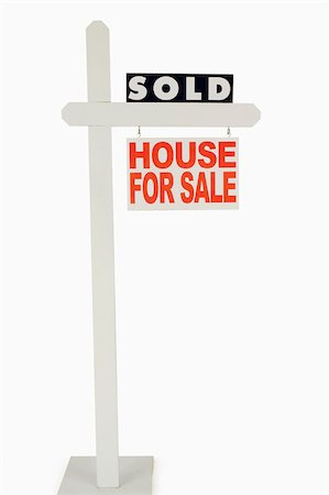 sold sign - For sale sign Stock Photo - Premium Royalty-Free, Code: 604-01570730