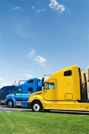 side view tractor trailer truck - Semi-trucks Stock Photo - Premium Royalty-Free, Code: 604-01826727