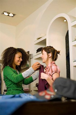 Teenage girls shopping Stock Photo - Premium Royalty-Free, Code: 604-02288682