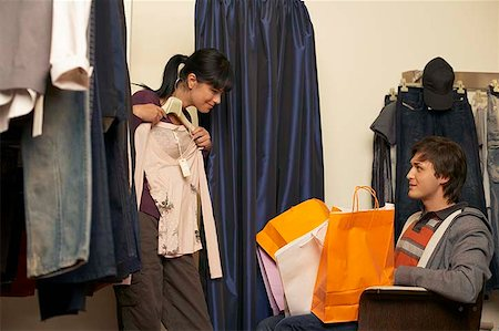 Couple shopping Stock Photo - Premium Royalty-Free, Code: 604-02288683