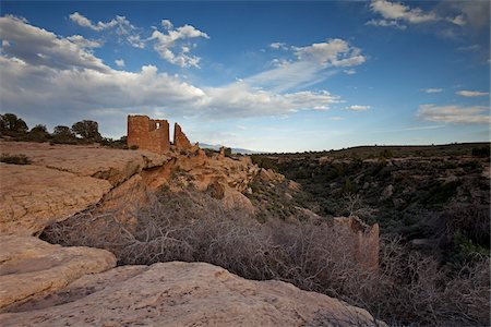 prehistoric - Hovenweep Castle, Little Ruin Canyon, Hovenweep National Monument, Utah, USA Stock Photo - Premium Royalty-Free, Code: 600-04425050