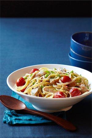 Pasta with Chicken Stock Photo - Premium Royalty-Free, Code: 600-04625559