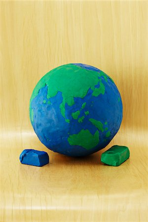 Plasticine Earth Stock Photo - Premium Royalty-Free, Code: 600-04625578