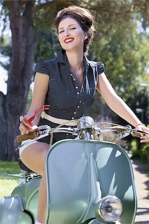 Woman Riding Scooter, Rome, Italy Stock Photo - Premium Royalty-Free, Code: 600-04926403