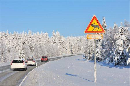 Road, Kuusamo, Northern Ostrobothnia, Oulu Province, Finland Stock Photo - Premium Royalty-Free, Code: 600-05609977
