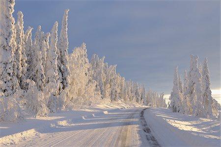 Road, Valtavaara, Kuusamo, Northern Ostrobothnia, Oulu Province, Finland Stock Photo - Premium Royalty-Free, Code: 600-05609970