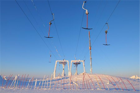 Ski Lift, Rukatunturi, Kuusamo, Northern Ostrobothnia, Finland Stock Photo - Premium Royalty-Free, Code: 600-05610058