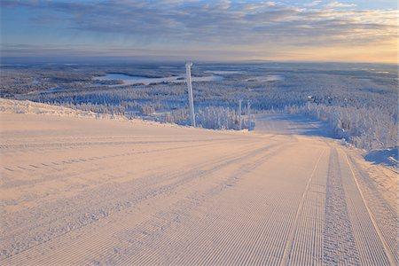 Ski Run, Rukatunturi, Kuusamo, Northern Ostrobothnia, Finland Stock Photo - Premium Royalty-Free, Code: 600-05610059