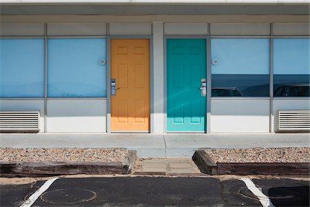 Refurbished 1970's Style Motel, Provincetown, Cape Cod, Massachusetts, USA Stock Photo - Premium Royalty-Free, Code: 600-05610117