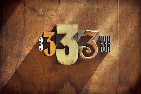 Letterpress 3's Stock Photo - Premium Royalty-Free, Code: 600-05656542