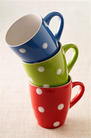 polka dot - Close-up of Polka-dotted Mugs Stock Photo - Premium Royalty-Free, Code: 600-05662609