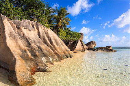 seychelles - Granite Rock Formations, Anse Source d'Argent, La Digue, Seychelles Stock Photo - Premium Royalty-Free, Code: 600-05786191