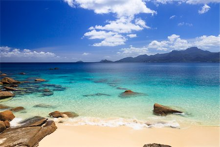 Beach at Anse Soleil, Mahe, Seychelles Stock Photo - Premium Royalty-Free, Code: 600-05786229