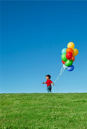 Boy with Balloons Stock Photo - Premium Royalty-Free, Code: 600-05786568