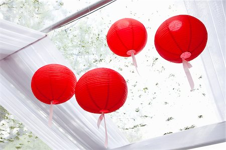 event - Paper Lanterns at Wedding Stock Photo - Premium Royalty-Free, Code: 600-05786635