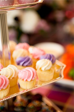 sweet   no people - Close-up of Cupcakes Stock Photo - Premium Royalty-Free, Code: 600-05786690