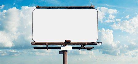 Blank Billboard Stock Photo - Premium Royalty-Free, Code: 600-05803153