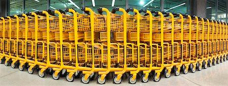 supermarket not people - Shopping Carts at Mega Store Stock Photo - Premium Royalty-Free, Code: 600-05803165